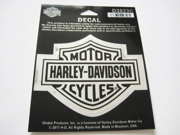 harley davidson bar shield logo aufkleber chrom mittel 9. Black Bedroom Furniture Sets. Home Design Ideas