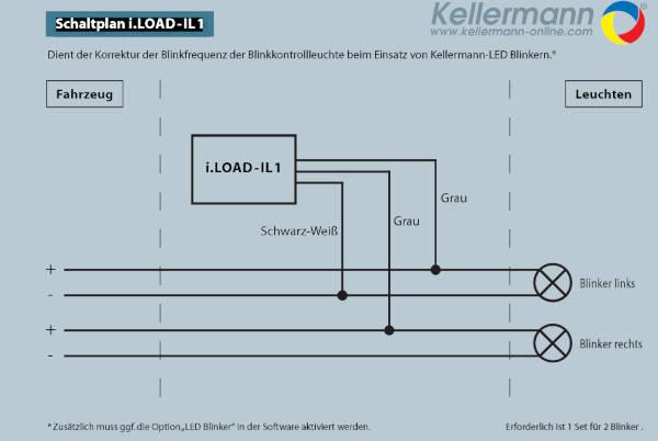 Kellermann i.LOAD-IL1 Load Equalizer für LED Blinker vorne
